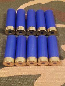 "12 GAUGE 2 3/4"" SNAP CAPS DUMMY TRAINING ROUNDS SET OF 10 ""SAFETY BLUE"""