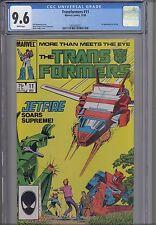 Transformers #11 CGC 9.6  Marvel 1985 Jet fire  Comic : NEW Frame: Price Drop!