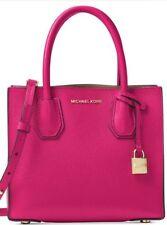 Michael Michael Kors Mercer Medium Ultra Pink Leather Messenger Bag