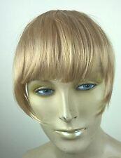 medium blonde clip in on fake fringe bangs hair extension hair piece