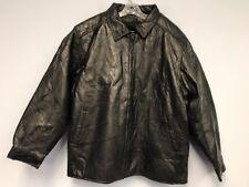 LEGACY Men Black Genuine Leather Jacket Orginal Leatherwear LINED & PADDED Sz XL