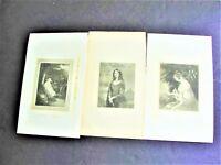 Matilda , Ellenore, Mother and Infant- 1800s Engraving Set Of (3) Prints.