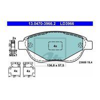 ATE 13.0470-3966.2 Bremsbelagsatz, Scheibenbremse ATE Ceramic   für Peugeot