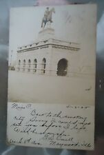 Real Photo Postcard US Grant Monument Lincoln Park Chicago Illinois 1905