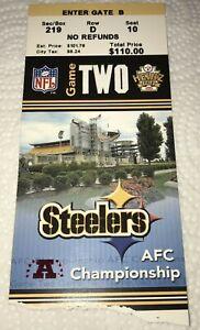 Patriots @ Steelers 2004 AFC Championship Ticket Stub Brady vs Big Ben Rookie TD