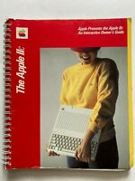 Vtg 1983 Apple IIc Computer Spiral Bound Interactive Owners Guide Manual Book