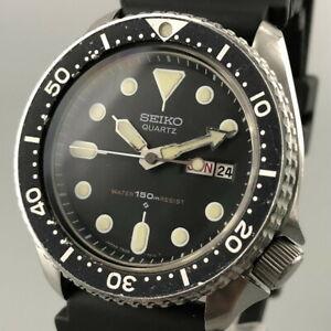 Vintage 1980 SEIKO QUARTZ DIVER'S 150M 7548-7000 Men's Watch from JAPAN #509