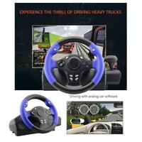 Racing Game Steering Wheel w/ Brake Pedal for PC PS3 PS4 Xbox One XBOX360 Switch
