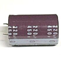 Capacitor  220UF 450V Electrolytic 220mfd  Temp 105C  2pcs