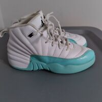 Air Jordan Retro 12 Light Aqua Little Kid Size 1Y Shoes White Basketball Sneaker