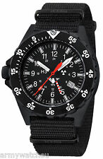 Pilot Watch GMT Second Time Zone H3 tritium lights German Army Watch KHS.SHG.NB