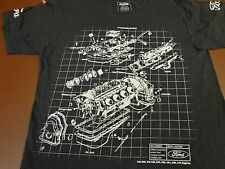 FORD CYLINDER BLOCK  Motor Graphics Size Small Tee T  Shirt   R5
