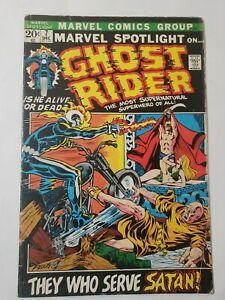 Marvel Spotlight #7 The Ghost Rider(Marvel,1973)3rd Ghost Rider app, MCU Key VG+