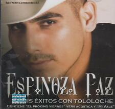 CD - Espinoza Paz NEW Mis Exitos Con Tololoche 11 Tracks FAST SHIPPING !