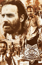 """Rick Grimes Walking Dead  """"R.G. Our Leader"""" 11 x 17 high quality poster print"""