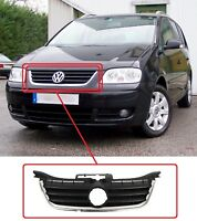 VW TOURAN 2003-2006 CADDY 2004-2011 COMPLETE FRONT RADIATOR GRILLE BLACK CHROME