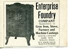 Enterprise Foundry Iron Stove Casting Belleville Illinois Vintage Print Ad 1920s photo