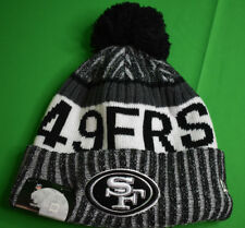 New Era NFL Sideline San Francisco 49ers Cuffed Pom Sport Knit Beanie Hat New