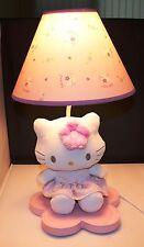 "Saurio Hello Kitty Lamp Pink Base 17"" x 7"" x 7"" w/Stuffed Hello Kitty & Shade"