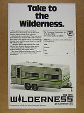1978 fleetwood Wilderness Travel Trailer photo vintage print Ad