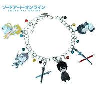 Anime Sword Art Online (6 Themed Charms) Assorted Metal Charm Bracelet