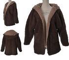 Manteau Veste Femme Style Peau de Mouton MARRON BEIGE 42 44 46 LANDSHE ZAZA2CATS