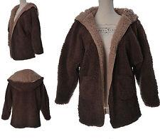 Manteau Veste Femme Style Peau de Mouton MARRON BEIGE 42 44 46 LAND ZAZA2CATS