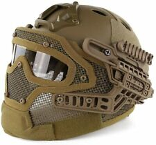 Tactical Protective Goggles G4 System Full Face Mask Helmet Paintball Tan