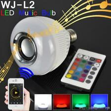 Cassa Bluetooth Lampadina colorata LED E27 RGB Bulbo Musica Lampada Telecomando