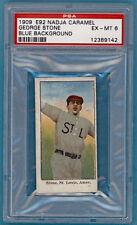 1909 E92 Nadja Caramel George Stone Blue Background – PSA 6 Browns!
