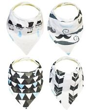 Kaydee Baby Bandana Bibs boys, adjustable, lined set of 4