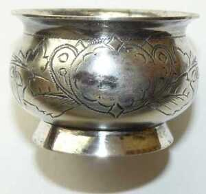 Russian Imperial Silver 84 Salt Cellar Moscow 1899-1908