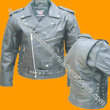 MENS COWHIDE LEATHER MOTORCYCLE BIKER JACKET SIDE LACE