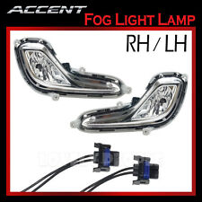 New OEM Fog Light Lamp + Connectors LH & RH for 2012-2013 Hyundai ACCENT 4door