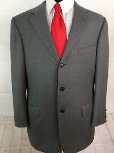 Ermenegildo Zegna Men's Grey Striped Wool Suit 44R 34X28 $2,975