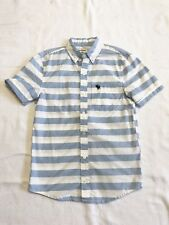 Abercrombie Kids Boys Button Down With White & Light Blue Stripes Sz M (12) NWOT