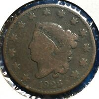 1828 1C Coronet Head Cent, Small Wide Date (57812)