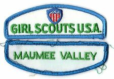 Maumee Valley ~ Junior Cadette Girl Scouts Council ID Patch Set~Pre-Owned