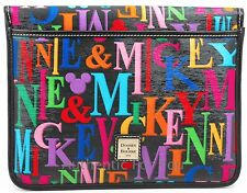 RARE Disney Dooney Bourke OOAK HTF Mickey Minnie Rainbow iPad Tablet Case Bag