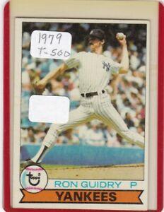 1979 RON GUIDRY TOPPS # 500 NEW YORK YANKEES BASEBALL CARD YOU BID & U OWN