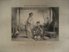 Lithographie XIXè - Les femmes Chinoises - Achille Déveria -1836