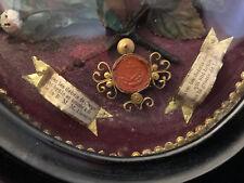 Reliquaire Cierges Cire ALACOQUE LOURDES Antique French Reliquary Relics
