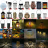 LED Solar Lantern Retro Hanging Light Outdoor Waterproof Garden Yard Decor Lamp