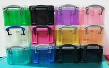 Really Useful Little Box Storage Organizers 0.14 Litre - ASSORTED COLORS