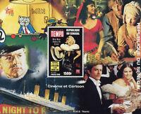 Senegal 1998 MNH Cinema & Cartoons Marilyn Monroe Titanic 1v M/S Ships Stamps