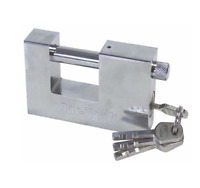 x2 90mm Steel Shutter Padlock Heavy Duty High Security Garage Shed Container New
