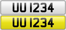 UUI234 cherished registration number plate dateless short sequential Double UU W