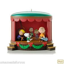 Hallmark 2012 On Stage Antics  Snoopy Peanuts Gang  Magic Ornament  Magic