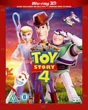 Disney Pixar Toy Story 4  3D + 2D BLU-RAY 3D New With Slip Cover.