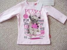 Chemises, débardeurs et t-shirts rose hautes pour fille de 0 à 24 mois